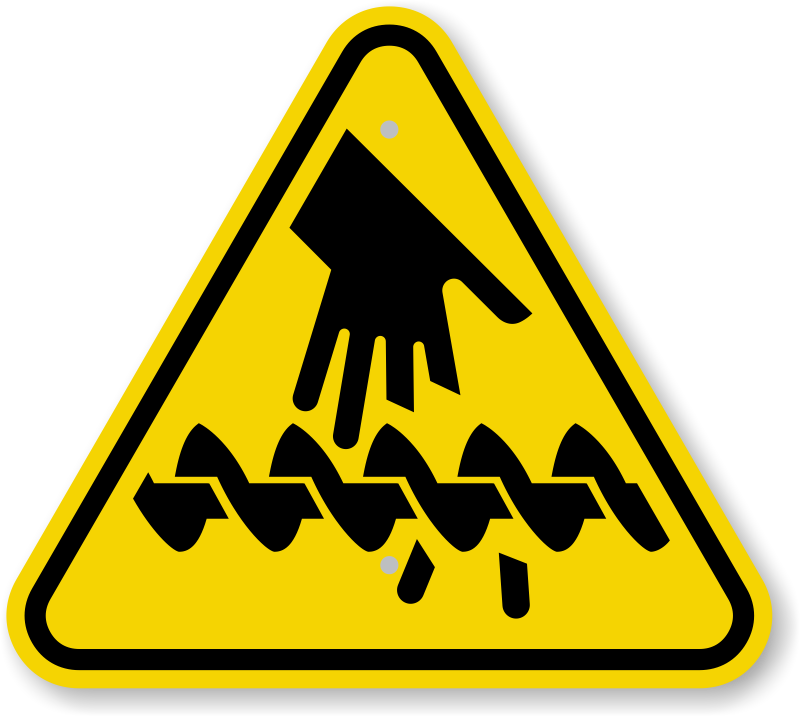 Iso Cutting Of Fingers Or Hand Auger Warning Sign Symbol