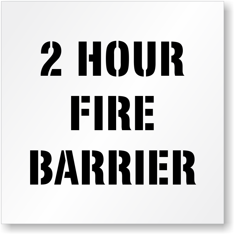 2 Hour Fire Barrier At Exterior Wall : Firewall smokewall signs free shipping