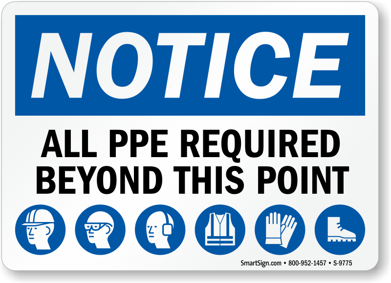 Multi Hazard Ppe Signs Wear Ppe Signs