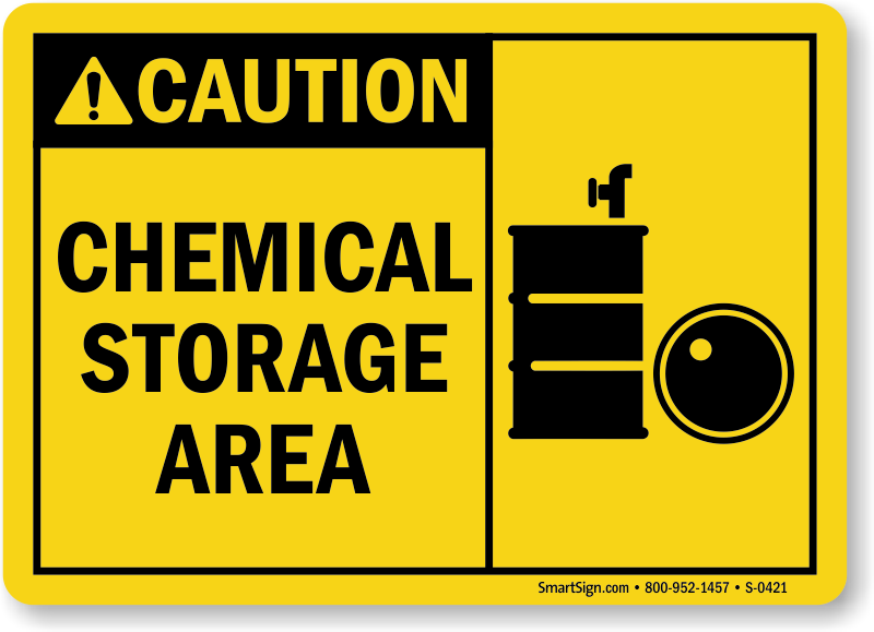 Caution Pool Chemical Storage Aluminum 8001wa1812e Pictures To Pin On