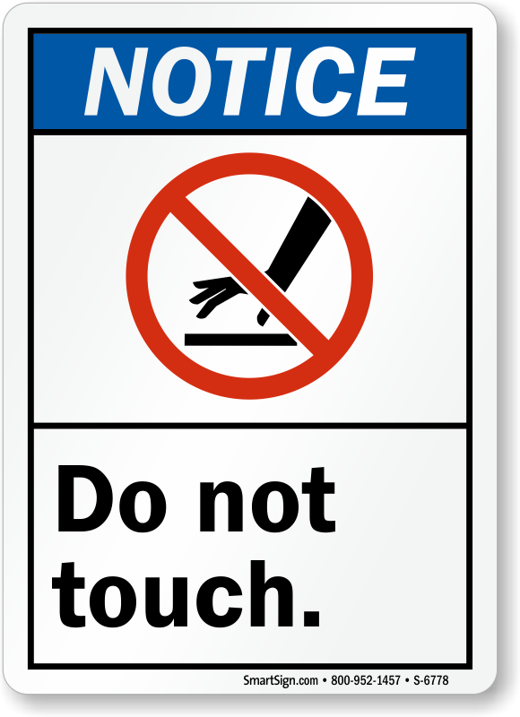 Shock Hazard Signs   Do Not Touch Hot Surface Signs