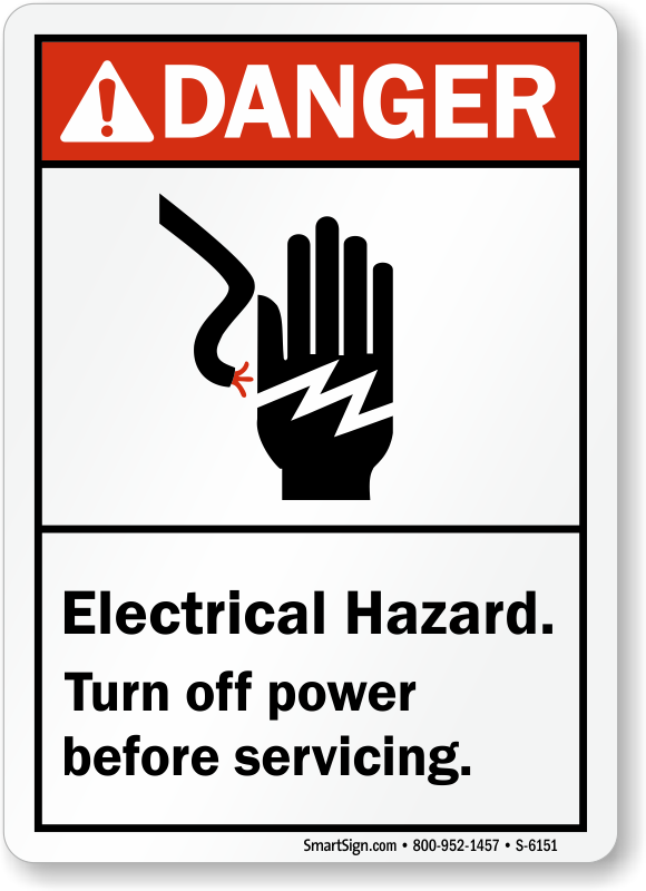 Electrical Hazard Signs Osha Ansi Compliant
