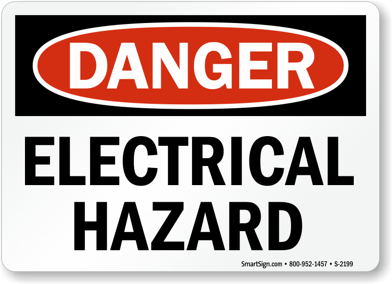 Electrical Safety Signs : Electrical hazard signs warning