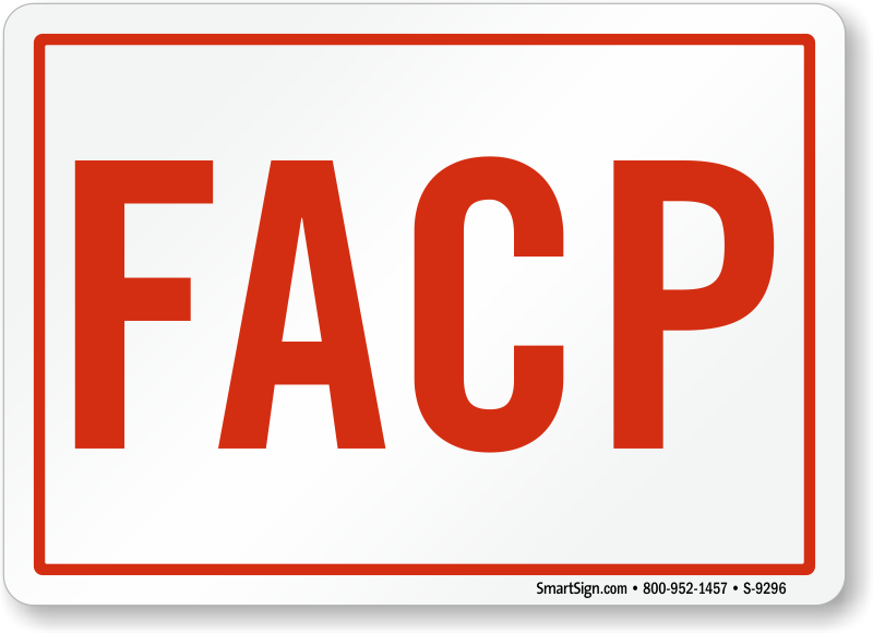 Facp Signs For Fire Alarm Control Panels