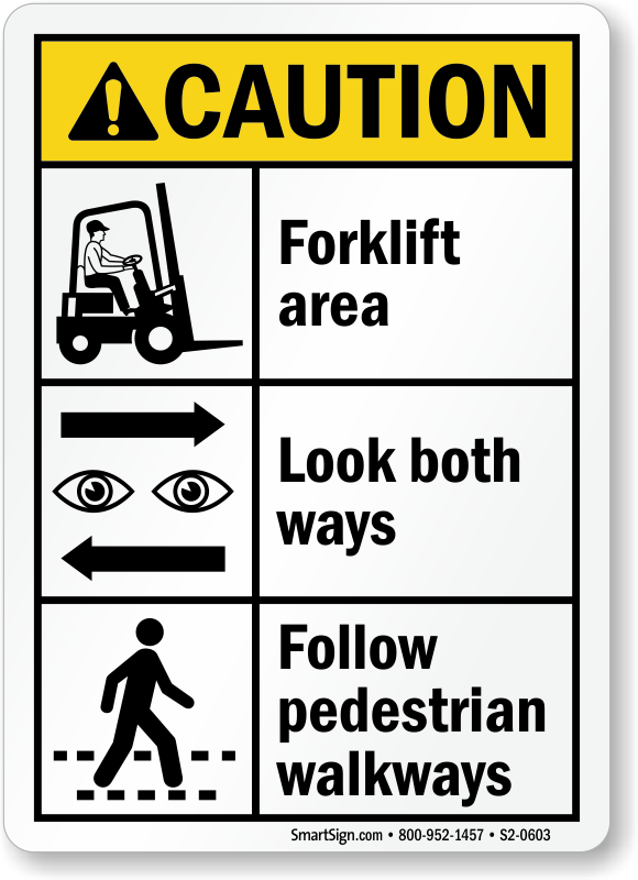 Forklift Area Signs Forklift Area Keep Clear Signs