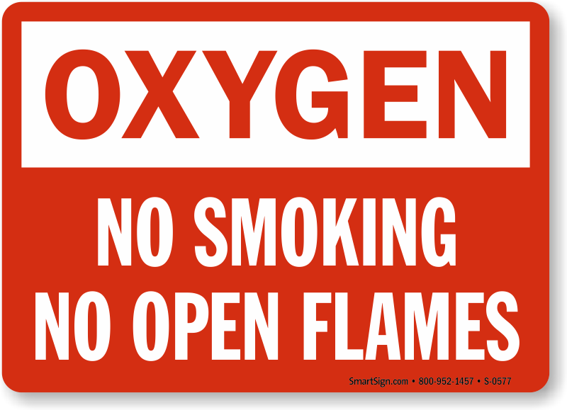 graphic relating to Oxygen in Use Sign Printable referred to as 100+ No Smoking cigarettes Oxygen Indications Printable yasminroohi