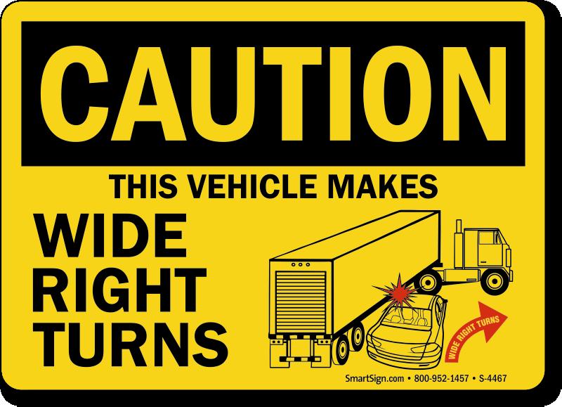 truck safety signs. Black Bedroom Furniture Sets. Home Design Ideas