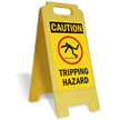 Caution Tripping Hazard W/Graphic Fold-Ups® Floor Sign
