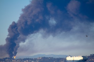 chevron oil refinery fire