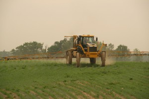 photo of pesticide application