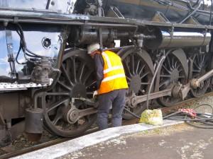 railroad worker onsite
