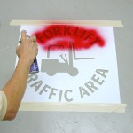 Promote forklift safety with stencils: a how-to guide