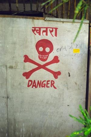 Skull and Crossbones Sign from India