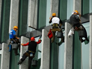 photo of window cleaners