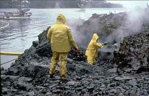 photo of Exxon Valdez cleanup