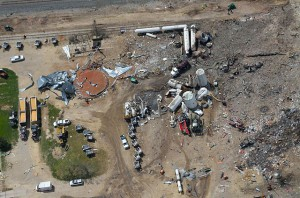 Photo of west, texas explosion site