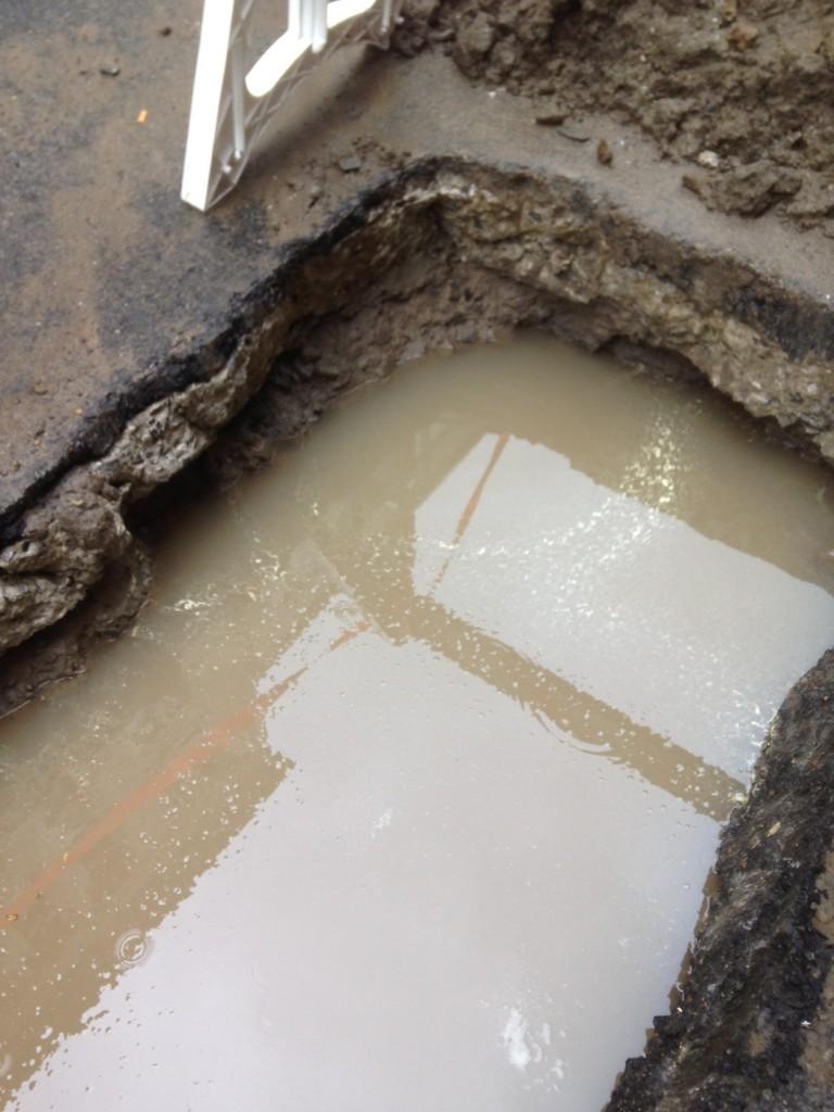 flooded trench hazard spotting