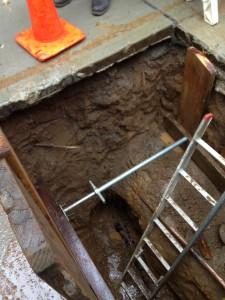 hazard spotting trench