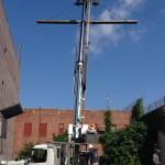 What crane construction hazards do you see? #HazardSpotting