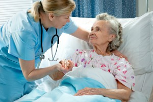 photo of nurse with elderly patient