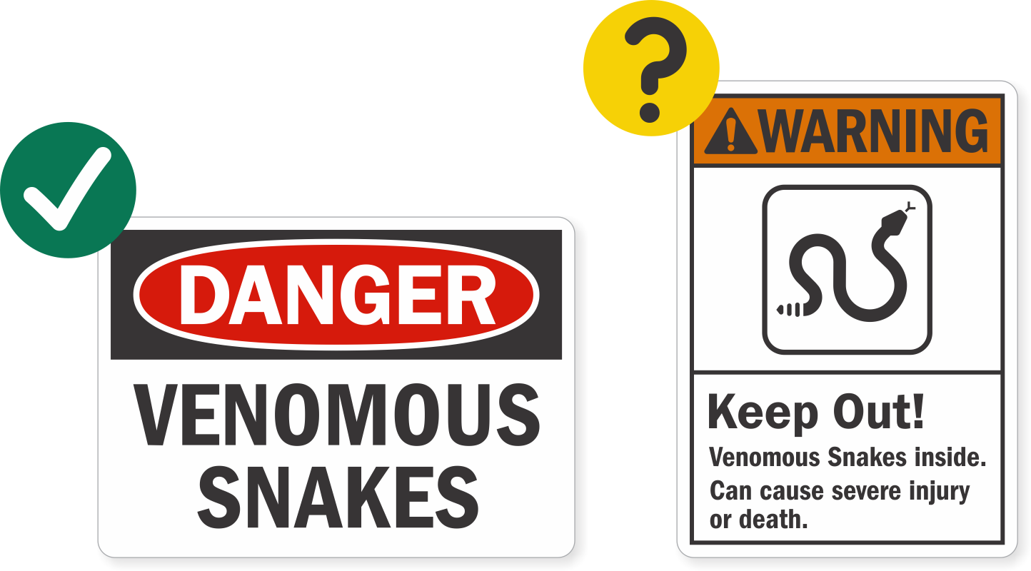 Will the ansi designs save more lives mysafetysign blog snakes nvjuhfo Gallery