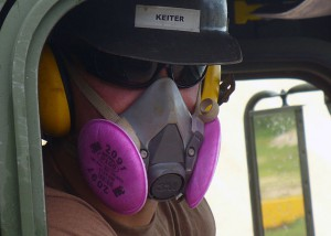 Carbon nanotubes are one of the few nanomaterials with occupational exposure limits. The EPA requires manufacturers use full-face N-100 cartridge respirators. (Photo via U.S. Navy, via Creative Commons.)