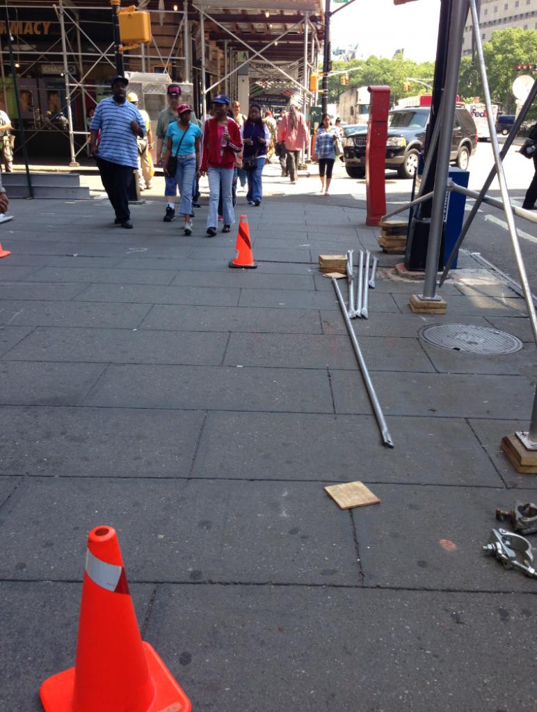 construction sidewalk hazardspotting