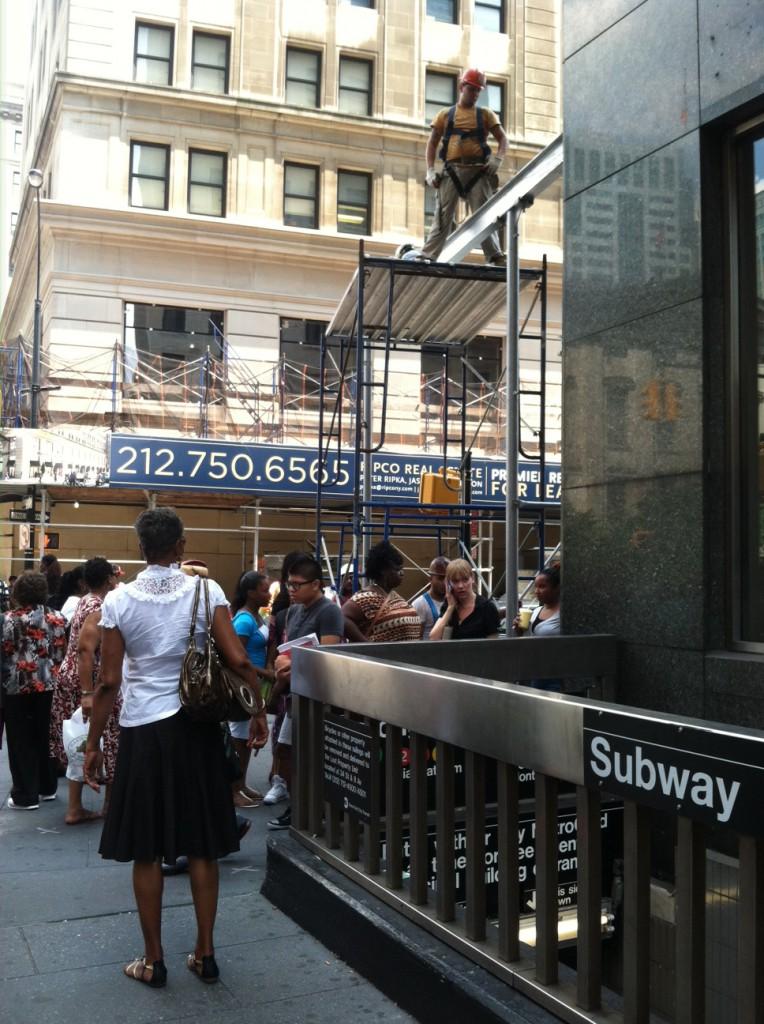 construction sidewalk hazard
