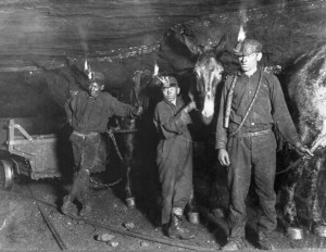 photo of early coal mine