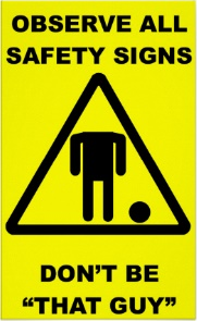 funny safety sign