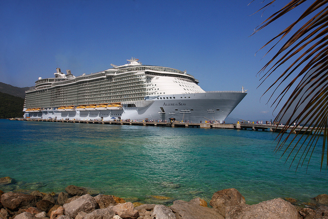 The largest cruise ship in the world, the Allure of the Seas