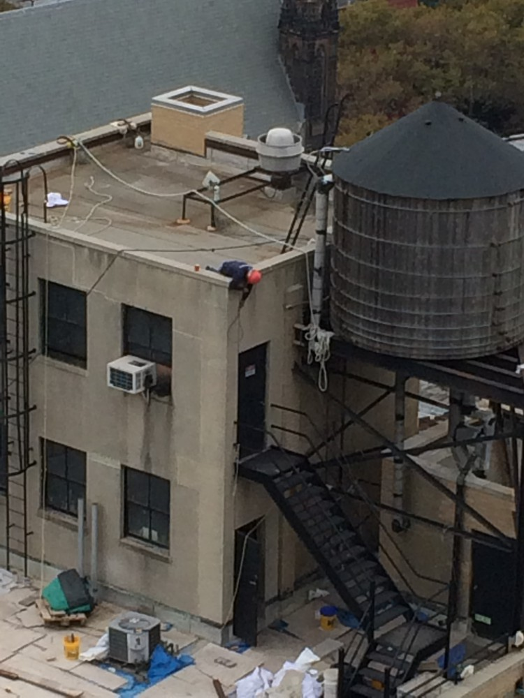 Video Missing Fall Protection On A Flat Roof