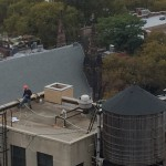 VIDEO: Missing fall protection on a flat roof! #HazardSpotting