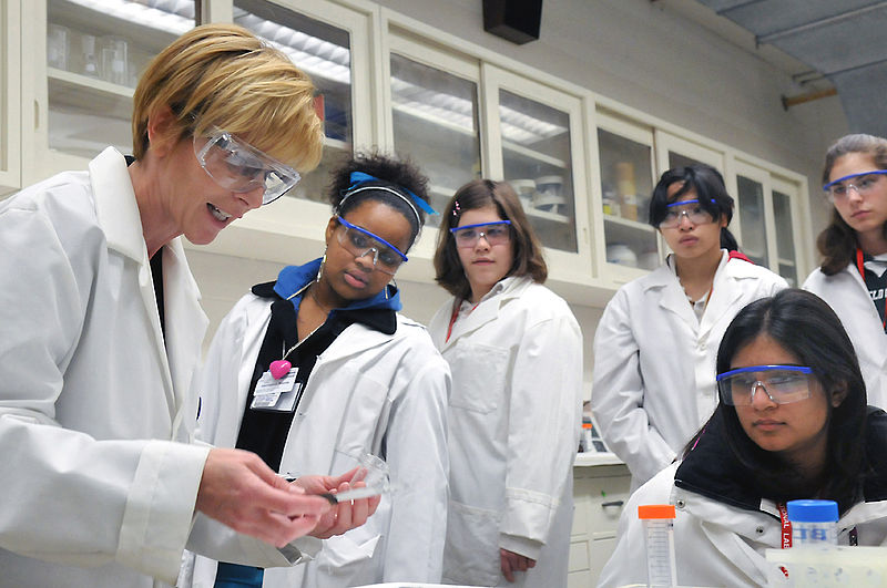 Lab Safety During Experiment Demonstration