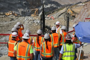 construction workers and engineers on site