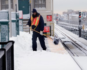 Workers clearing snow at heights or rooftops should be trained and provided with adequate safety measures.