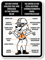 Safety Fox All PPE Guide Sign