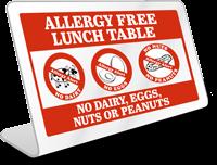 No Peanuts Table-top Sign
