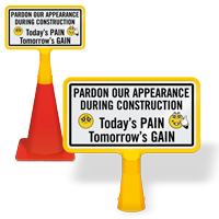 ConeBoss Sign for Construction Area