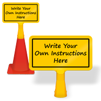 Write-On Coneboss Sign