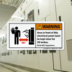 Minimum Clearance Around Electrical Panels (Carrying 600 Volts or Less)