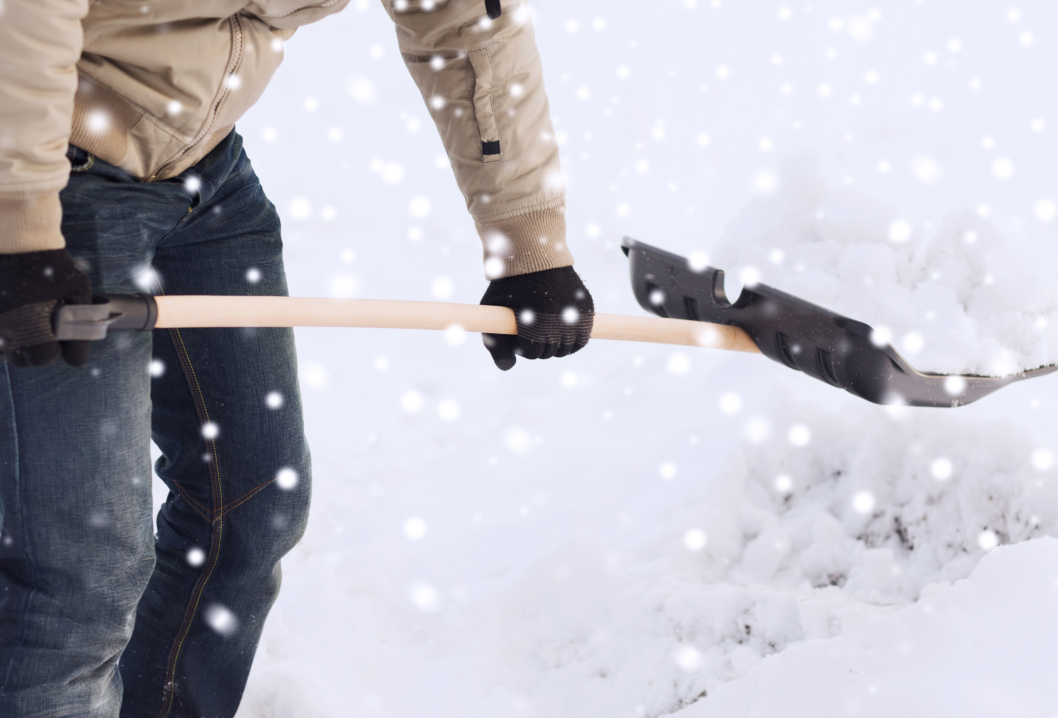 Snow Shoveling in Winters