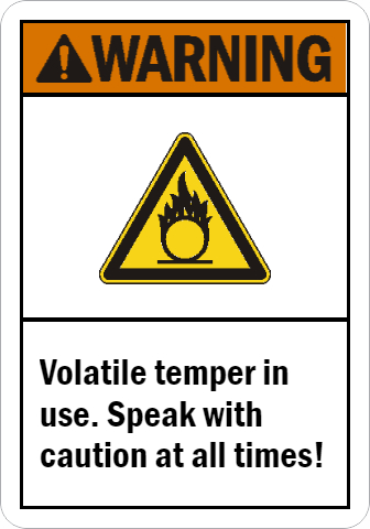 ANSI Warning Funny Safety Sign for Workplaces