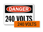 240 volts labels