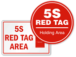 5S Red Tag Signs