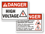 ANSI Danger Labels