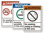 ANSI No Smoking Signs