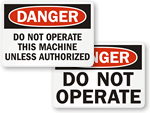 Authorized Operation Only Labels