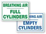 Breathing Air Station Signs