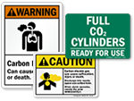 CO2 Fire Extinguisher Signs